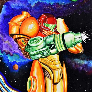 Samus - Watercolor Painting by thewisecarrot