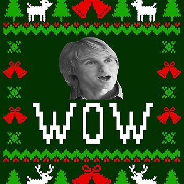 WOW - Owen Wilson - Ugly Christmas Sweater Style by Christmas-Tees