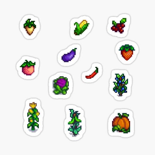 Pixel Crops Sticker