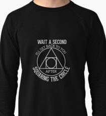 Funny Math - Squaring the circle Lightweight Sweatshirt