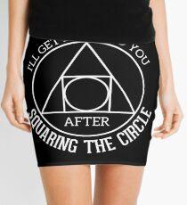 Funny Math - Squaring the circle Mini Skirt