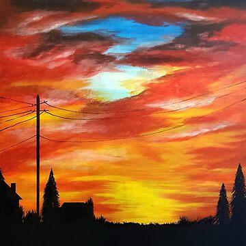 A blaze of colour by atouchofcanvas