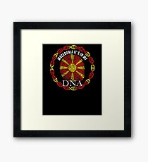 Macedonia Its In My DNA - Macedonia Macedonian Flag In Thumbprint Framed Print