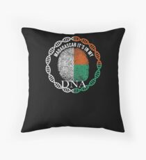 Madagascar Its In My DNA - Madagascar Malagasy Flag In Thumbprint Floor Pillow