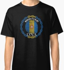 Madeira Its In My DNA - Madeira Madeiran Flag In Thumbprint Classic T-Shirt
