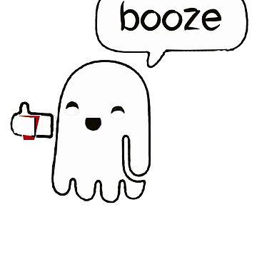 Halloween Booze Ghost Trick Or Treat Tee Shirt by Gestvlt