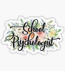 Floral School Psychologist Vinyl Sticker Sticker
