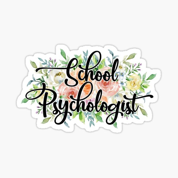 Floral School Psychologist Vinyl Sticker Sticker