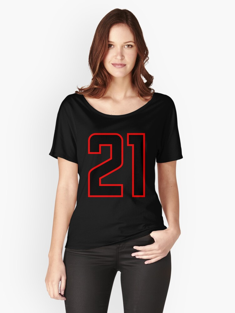 Number 21 (1-99) Women's Relaxed Fit T-Shirt Front