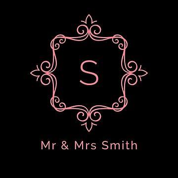 Mr & Mrs Smith - Pink Monogram P1 | PERSONALIZED - MONOGRAMS - CUSTOM MADE by mcaussieb