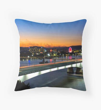 City At Dusk Throw Pillow