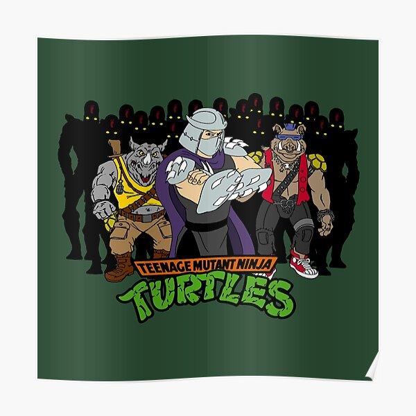 TMNT - Foot Soldiers with Shredder, Bebop & Rocksteady - Teenage Mutant Ninja Turtles Poster