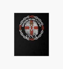 Northern Ireland Its In My DNA - Northern Ireland IrItsh Flag In Thumbprint Art Board