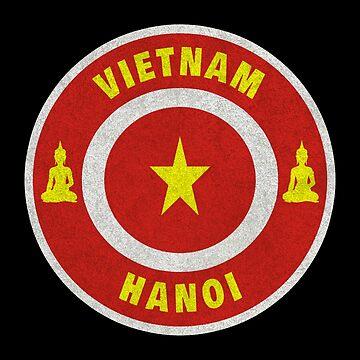 Vietnam Hanoi Buddha Flag Gift by Rocky2018