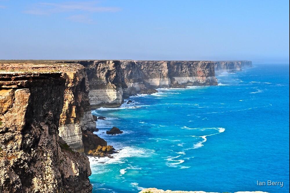 Bunda (Nullarbor) Cliffs - Great Australian Bight by Ian Berry