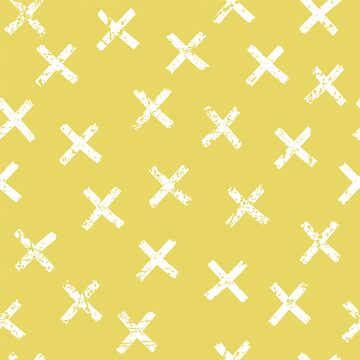 Hipster pattern with crosses by alijun
