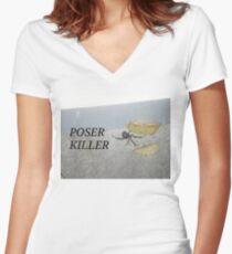 POSER KILLER Women's Fitted V-Neck T-Shirt