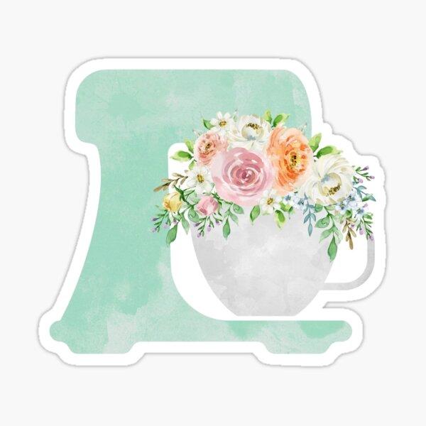 Floral Mixer Vinyl Sticker Sticker