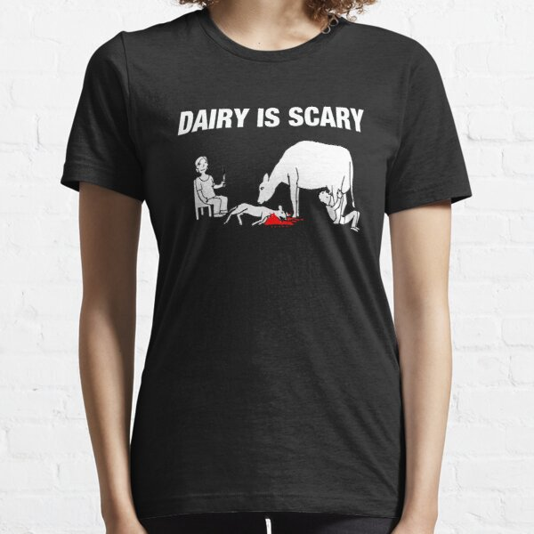 Dairy IS Scary-veganes Anti-Milch-Liebestier-Shirt Essential T-Shirt