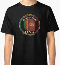 Sri Lanka Its In My DNA - Sri Lanka Sri Lankan Flag In Thumbprint Classic T-Shirt