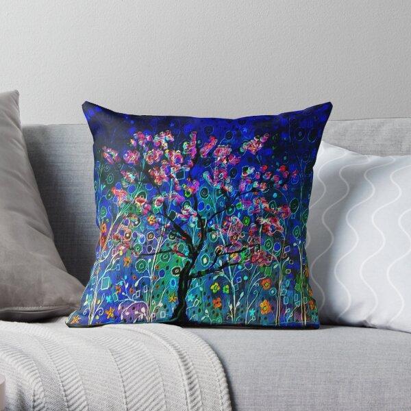 Night Spring Throw Pillow