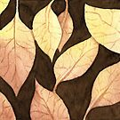 Brown Watercolor Leaves by Nora Back