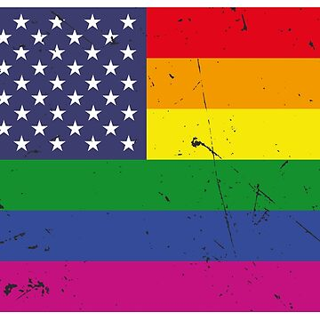US Rainbow Flag (LGBT Stars and Rainbow Stripes) by digitalbulldog