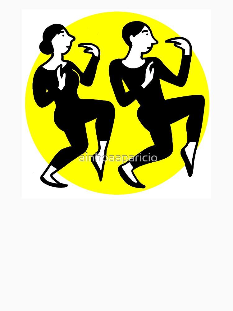 Gelber Zitronenkreis des modernen Tanzes von ainhoaaparicio