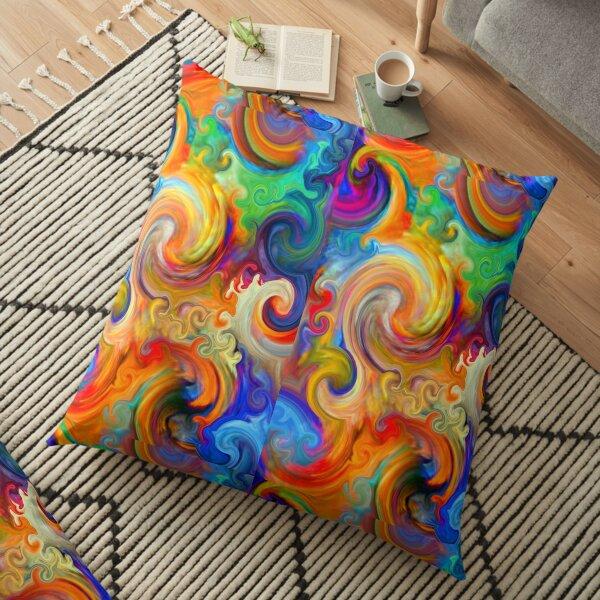Mexican Ocean Wave Floor Pillow