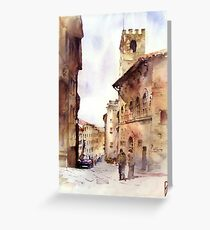Italy oldtown Arezzo Greeting Card