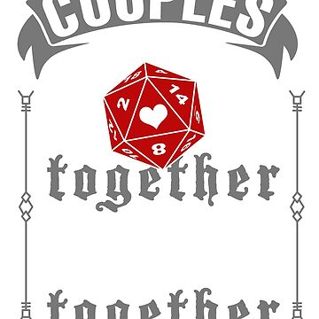 Funny DND Unisex Shirt Couples DND Together Dungeon Boardgame RPG by Top10Merch