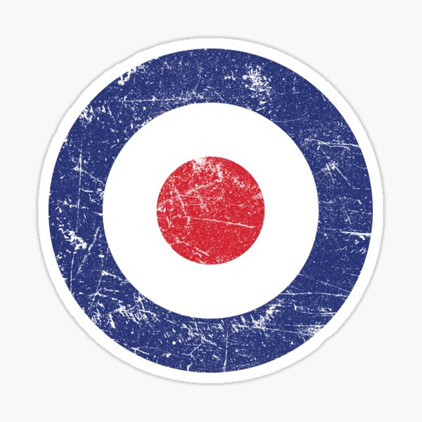 RAF Roundel Air Force Target British Bullseye Distressed Sticker