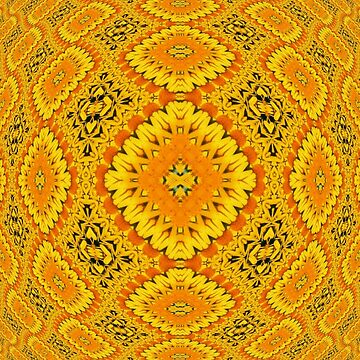 Yellow Illusion Pattern by Charldia