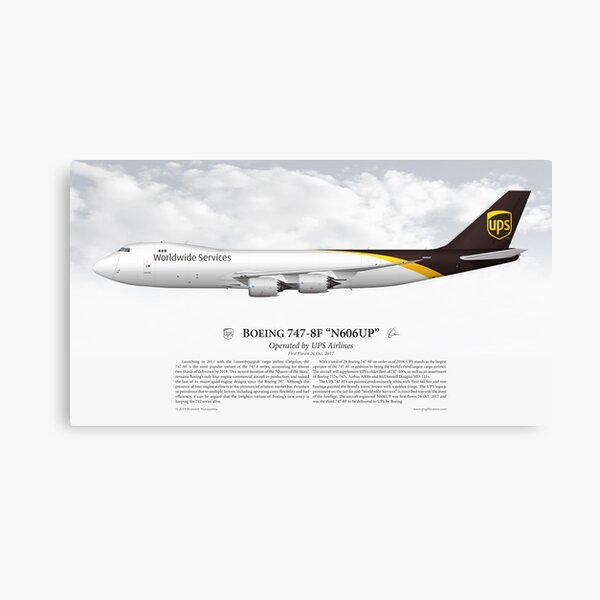 Boeing 747-8F - UPS Airlines Canvas Print