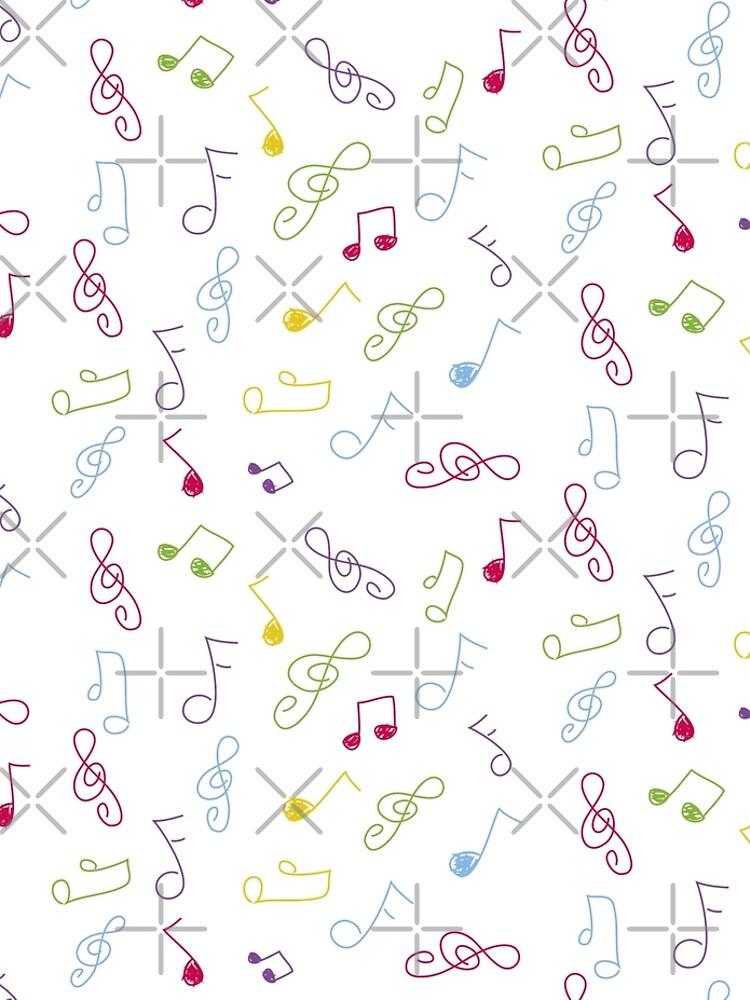 Gekritzel musikalische Notizen von lizmaydesigns