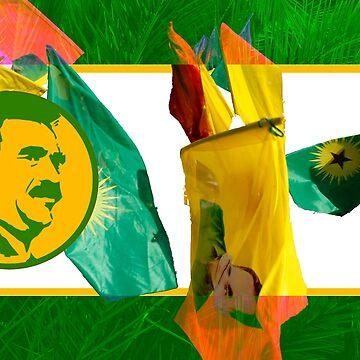 APO - Abdullah Ocalan - PKK - YPG - YPJ by real-leftorium