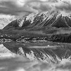 Tasman Lake Reflections by Charles Kosina