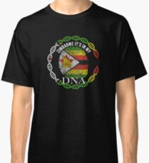 Zimbabwe Its In My DNA - Zimbabwe Zimbabwean Flag In Thumbprint Classic T-Shirt