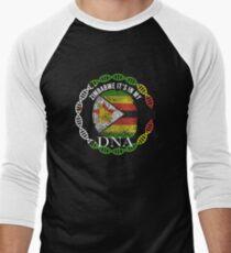 Zimbabwe Its In My DNA - Zimbabwe Zimbabwean Flag In Thumbprint Baseballshirt für Männer