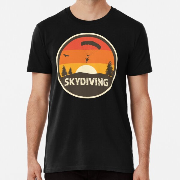 Skydive in cool retro classic colors with distressed text Premium T-Shirt