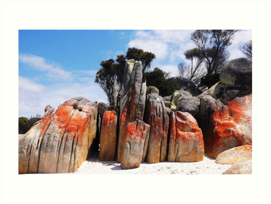 Orange Rockscape - Bay of Fires, Tasmania by Lexa Harpell