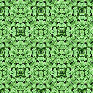 Green kaleidoscope pattern by jacoolda