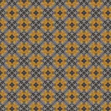 Yellow Moss Inspired Natural Kaleidoscope Pattern by jacoolda