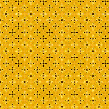 Yellow Flower Inspired Kaleidoscope Pattern by jacoolda