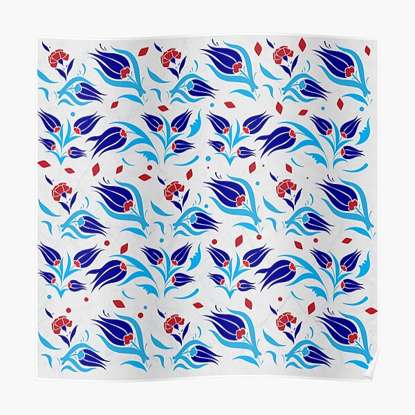 Turkish tulip pattern  Poster
