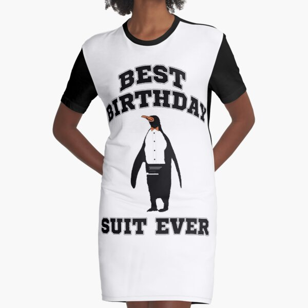 Funny Penguin Birthday Suit Tee Shirt Graphic T-Shirt Dress