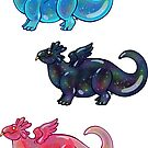 Glitter Space Slime Dragons by DelythThomasArt
