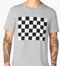 Checkered Flag, Chequered Flag, Motor Sport, Checkerboard, Pattern, WIN, WINNER,  Racing Cars, Race, Finish line, BLACK Men's Premium T-Shirt