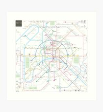 Paris metro map Art Print