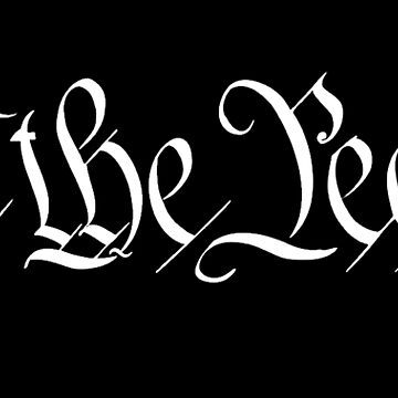 America, American, We the People, United States Constitution, Congress, Pure & Simple white on black	 by TOMSREDBUBBLE